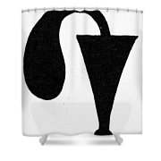 Egyptian Symbol Menat Shower Curtain