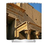 Egyptian Temple Architectural Detail Shower Curtain