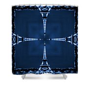 Eiffel Art 27a Shower Curtain