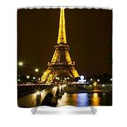 Eiffel At Night Shower Curtain