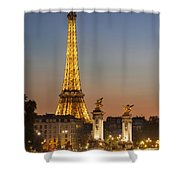 Eiffel At Twilight Shower Curtain