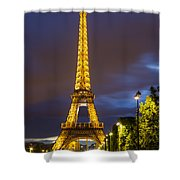 Eiffel Dusk Shower Curtain