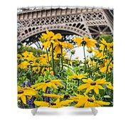 Eiffel Flower Shower Curtain