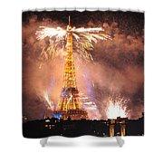 Eiffel Hat Shower Curtain