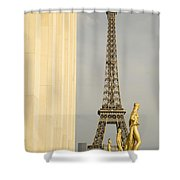 Eiffel Tour Paris Shower Curtain