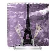 Eiffel Tower - Paris - Love Shower Curtain