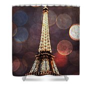 Eiffel Tower-4 Shower Curtain