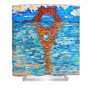 Eiffel Tower Abstract Impression Shower Curtain