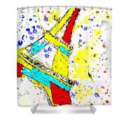 Eiffel Tower Abstract - Paris France Shower Curtain