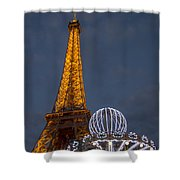 Eiffel Tower At Night Shower Curtain