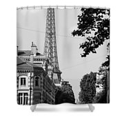 Eiffel Tower Black And White 4 Shower Curtain