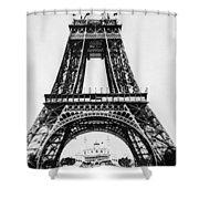 Eiffel Tower Construction Shower Curtain