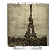 Eiffel Tower Shower Curtain by Debra and Dave Vanderlaan