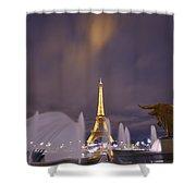 Eiffel Tower Dream Shower Curtain