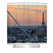 Eiffel Tower From Above Shower Curtain
