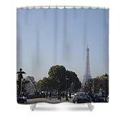 Eiffel Tower In The Distance Shower Curtain