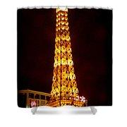 Eiffel Tower Las Vegas Nevada Shower Curtain