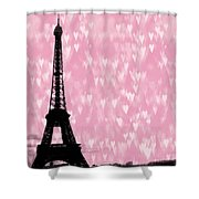Eiffel Tower - Love In Paris Shower Curtain