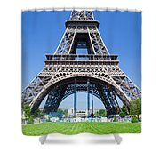 Eiffel Tower Lower Part Paris Shower Curtain