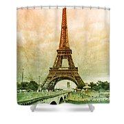 Eiffel Tower Mood Shower Curtain