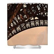 Eiffel Tower Paris France Arc Shower Curtain