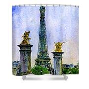 Eiffel Tower Paris Shower Curtain