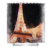 Eiffel Tower Paris Las Vegas Photo Art Shower Curtain