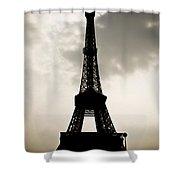 Eiffel Tower Silhouette Shower Curtain by Nila Newsom
