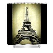 Mighty Eiffel Tower Shower Curtain