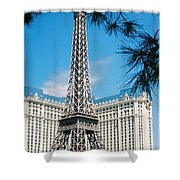 Eiffl Tower Vegas Shower Curtain