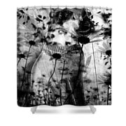 Eight Lives Left  Shower Curtain