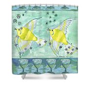Eight Of Cups Shower Curtain