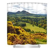 Eildon Hill - Three Peaks And A Valley Shower Curtain