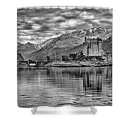 Eilean Donan - A Reflection Without Colour Shower Curtain