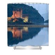 Eilean Donan Castle Dusk Shower Curtain