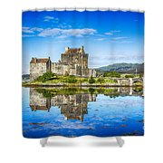 Eilean Donan Castle Reflections 2 Shower Curtain