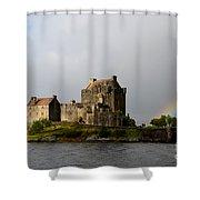 Eilean Donan With A Rainbow Shower Curtain
