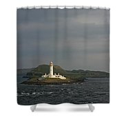 Eilean Musdile Lighthouse Shower Curtain
