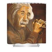 Einstein - Original  Oil Painting Shower Curtain
