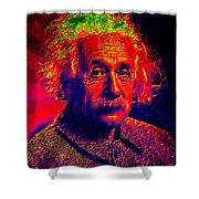 Einstein - Pop Art Shower Curtain