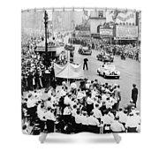 Eisenhower Victory Parade Shower Curtain