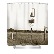 El Camino Real Mission Bell Near San Fernando Mission California 1906 Shower Curtain