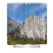 El Capitan And The Wall Of Granite Shower Curtain