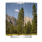 El Capitan And Yosemite Valley Shower Curtain