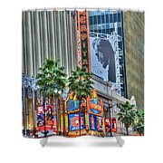 El Capitan Marquee Neon Lights Lincoln Billboard Hollywood Ca Shower Curtain