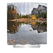 El Capitan Reflected In The Merced River Shower Curtain