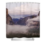 El Capitan Rises Over The Clouds Shower Curtain