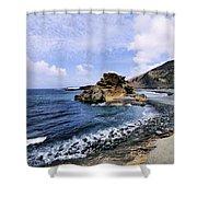 El Golfo Beach On Lanzarote Shower Curtain