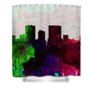 El Paseo City Skyline Shower Curtain