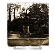 El Paso And Southwestern Rr Depot Fountain Tucson Arizona 1978 Shower Curtain